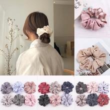 Новое поступление модные женские атласные резинки для волос с жемчугом яркие цвета резинки для волос для девушек аксессуары для волос конский хвост держатель