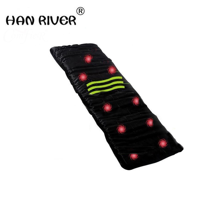 2018 Health Monitors Massager Acupunctue Mat 9 Vibrating Motors Full Body Far Infrared Heat Heathy Massage Cushion Seat Mattress концентрат health