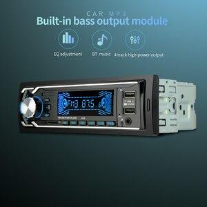 Image 3 - 12 V הכפול USB אלחוטי לרכב משולב רכב FM/TF כרטיס/AUX/MP3 רדיו נגן ידיים קורא תשלום מהיר מטען לרכב ערכה