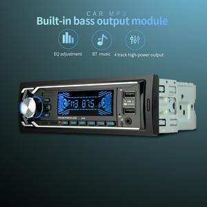 Image 3 - 12 V double USB sans fil voiture Kit multifonction voiture FM/TF carte/AUX/MP3 Radio lecteur mains libres appelant rapide Charge voiture chargeur kit