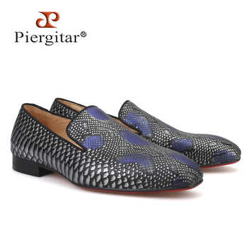 2019 new arrival Handmade men Genuine Leather shoes with Serpentine printing designs Party and Wedding men loafers male's flats - DISCOUNT ITEM  0% OFF All Category