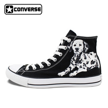 Dalmatian Dog Pet Original Design Converse All Star Women Men Shoes Hand Painted Shoes Black High Top Man Woman Sneakers Gifts