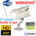 ip camera wireless wifi 960P 1.3mp HD surveillance Infrared Waterproof weatherproof security system cctv system outdoor white