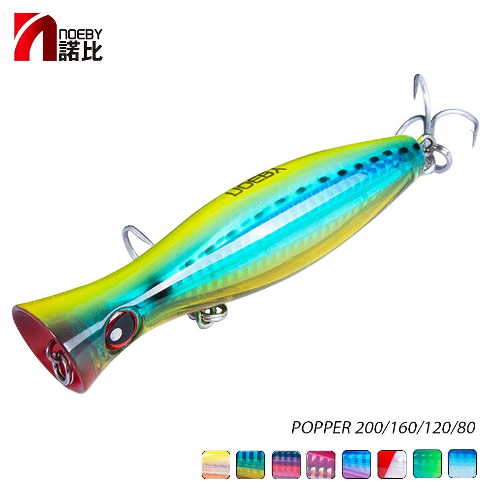 NOEBY Isca De Pesca Topwater Flutuante Popper 120mm/160mm Hard Bait Iscas Artificiais Leurre De Peche Wobbler Mar equipamento de pesca