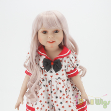Wigs Only! Taro Miilk Wigs for 18'' American Girl Dolls,Reborn Dolls with 10-11inch Head Heat Resistant Synthetic Hair Accessory 1pcs dolls wigs hair fit for 18inch height american girl doll hair wigs