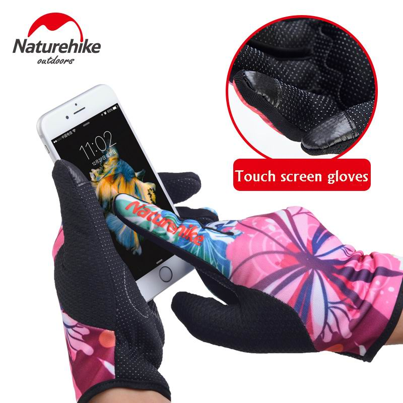 Touch Screen Slim Five Fingers Gloves Colorful Printing Telefingers Glove Skid-Proof Hard-Wearing For Cycling Driving Skiing