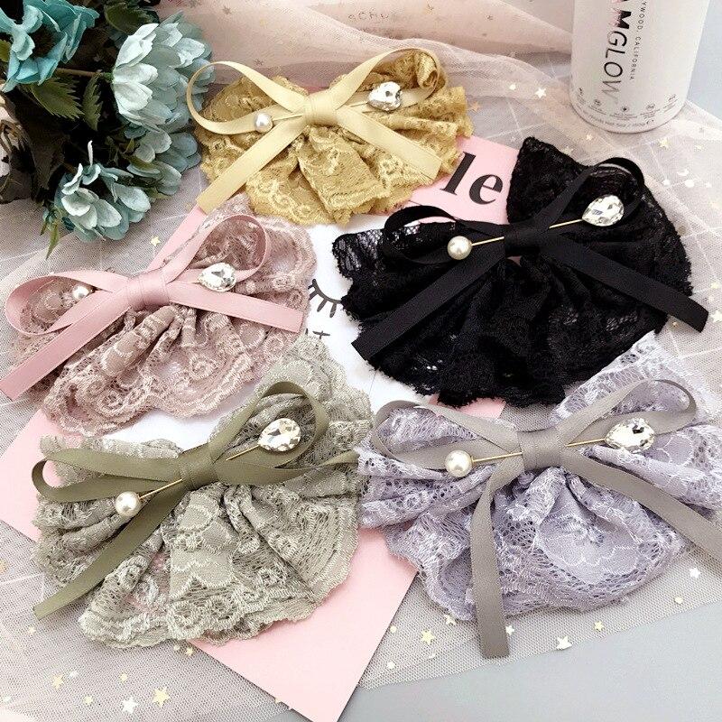 Princess Lace Cown Character Cute Hair Clip Girls Hair Pins Cotton Hair Bows Grips Kid Hair Accessories