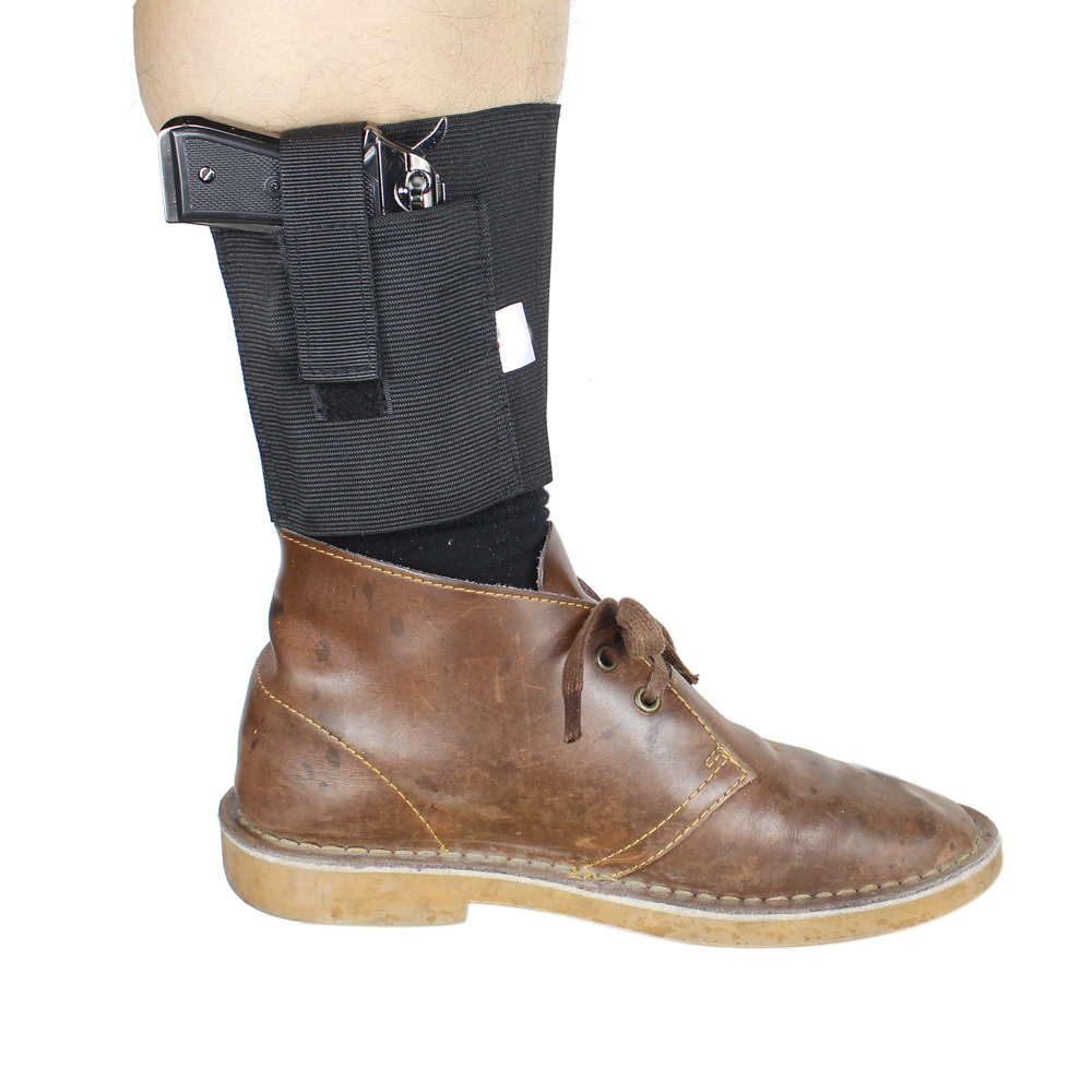 Ankle Holster for Concealed Carry Fits Ruger LC9 LCP Glock 42 43 36 26 S&W Bodyguard .380 .38 Similar Size Handguns