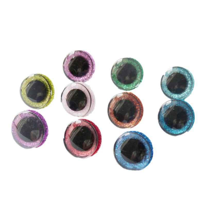 10 шт. 16 мм 20 мм 24 мм 10 шт. блестящие пластиковые кукольные глаза ремесленные Глаза DIY для плюшевого медведя мягкие игрушки, животные марионетка куклы