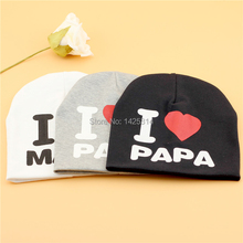 1pc Wool Knitting Baby Beanies Love PaPa I Love MaMa Cotton Crochet Children Skullies Sports Warm Kid Winter Beanie Hat Boys Cap