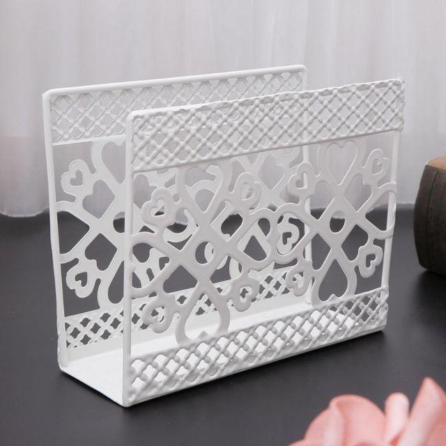 Metal napkin serviette holder disp