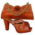 Hot selling African Fashion green Shoes and Matching Bags set,708-10A for Italy Shoes and Bags size 38-42 1610j0623d28