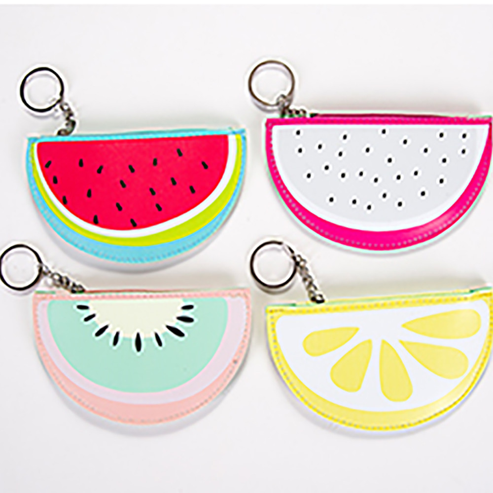 Fashion Hot Girls Fruit shape Cute Snacks Coin Purse Wallet Bag Change Pouch Key Holder Change Purse Money Bag Small Pocket 2017 new fashion women owl cute pu leather change purse wallet bag girls coin card money pouch portable purse small bag jan12