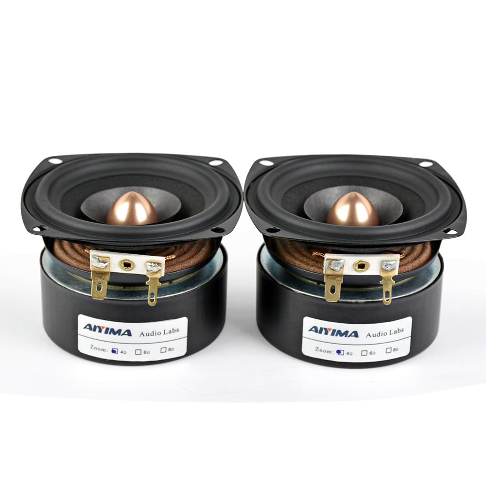 AIYIMA 2 PC 3 Pouces Audio Haut-Parleur 4Ohm 8Ohm 15 W haut-parleur large bande HIFI Aigus Mediant haut-parleur de basses bricolage - 3
