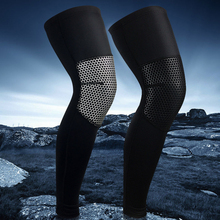 1PC Sports Antiskid Long Knee Legwarmers Support Compression Brace Pad Protector Sport Basketball Leg Sleeve Protection