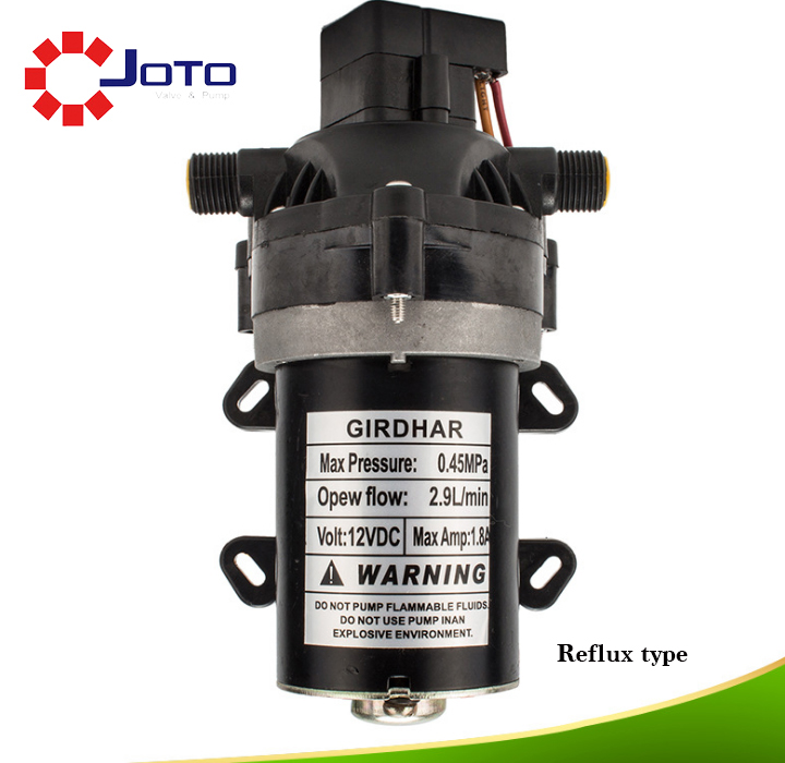Big Power Highly Efficient Safe Electrical Booster Pump Small DC 12V Clean Water Use Diaphragm Pump