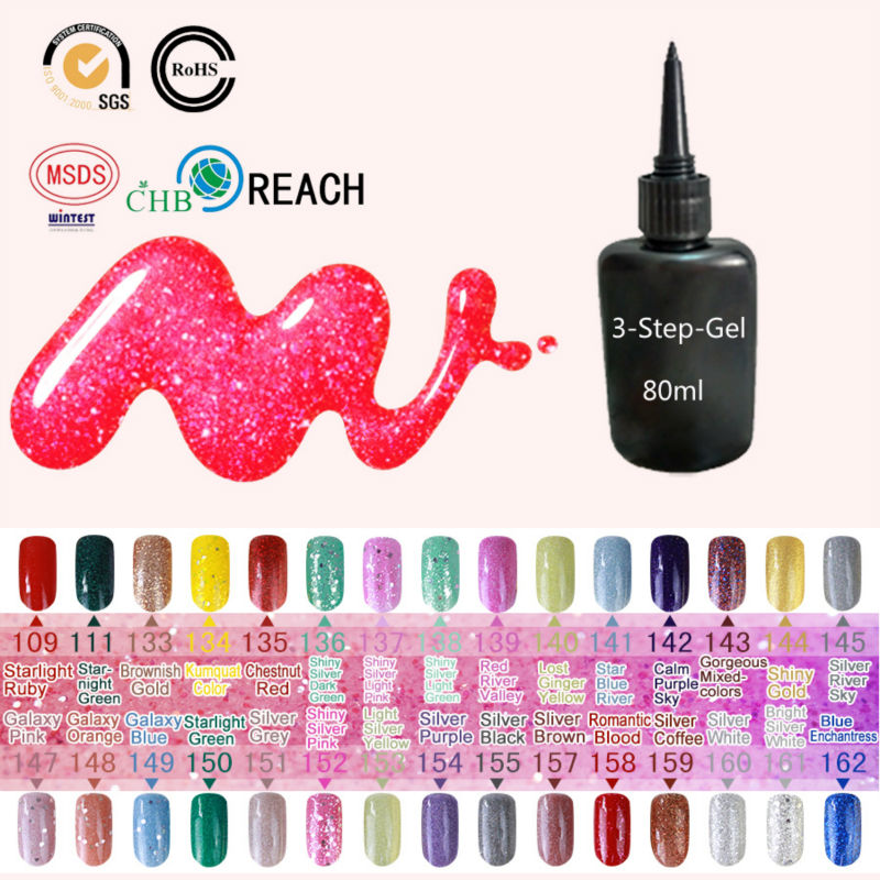 30 Glitter Colors Gel Nail Polish LED Lamp for Nail 80ml UV Gel Varnish Cheap Manicure Large Capacity Special for Manicure Shop nail builder professional manicure tools 36w uv lamp 10ml uv gel varnish base gel polish glitter powder colour gel polish set