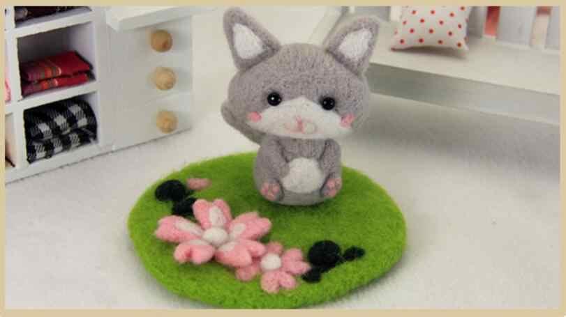 Кукла для газонов из шерсти для валяния, набор для рукоделия, войлок для животных, материал для рукоделия, сделай сам, поделки ручной работы, рукоделие с инструментом