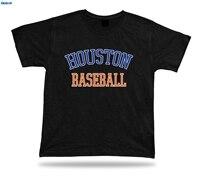 GILDIAN Houston BÓNG CHÀY T-Shirt Màu Xanh Cam Trắng TX USA Trang Phục Lĩnh Vực Stranger Những Điều In T Shirts Gốc