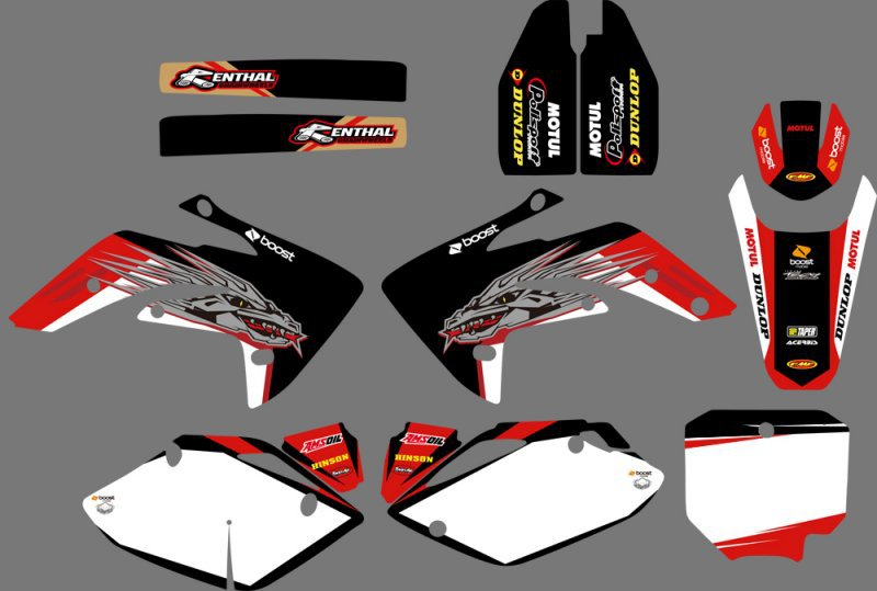 0050 Power NEW TEAM GRAPHICS & BACKGROUNDS DECALS <font><b>STICKERS</b></font> <font><b>Kits</b></font> for <font><b>Honda</b></font> CRF150R LIQUID COOLED 2007 08 09 10 11 2012 CRF <font><b>150</b></font> R image
