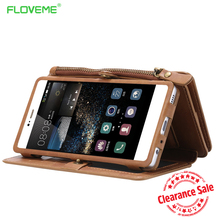 FLOVEME Luxury Leather Case For Samsung Galaxy S6 Edge Plus S7 Note 3 4 5 7 Flip Card Slot Huawei P9 P10