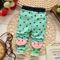 La primavera y el otoño bebé Girls cartoon leggings, pantalones infantiles, princesa Leggings pantalones, V1360