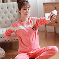 Casual Maternity Clothes Pregnancy Autumn Winter For Pregnant Women Long Sleeve Cotton Maternity Nightgown Nursing 60M0066