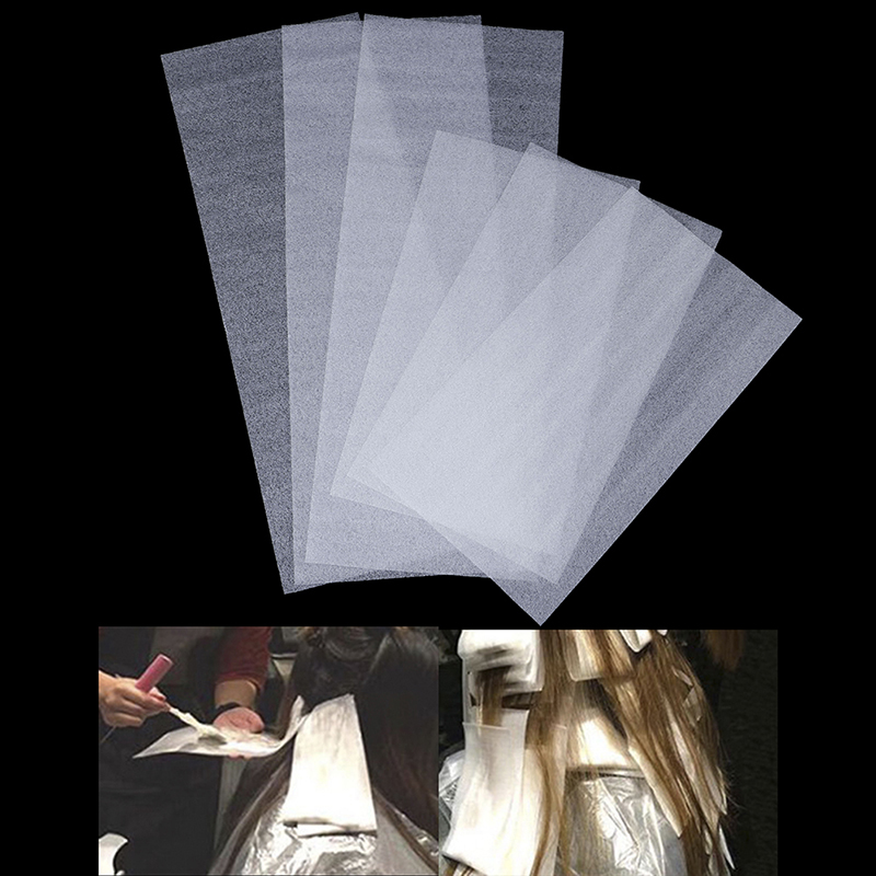 15pcs Reusable Hair Dye Paper Color Highlight Separating Sheet Barber Tissue Salon Hairdresser Use 2 Size
