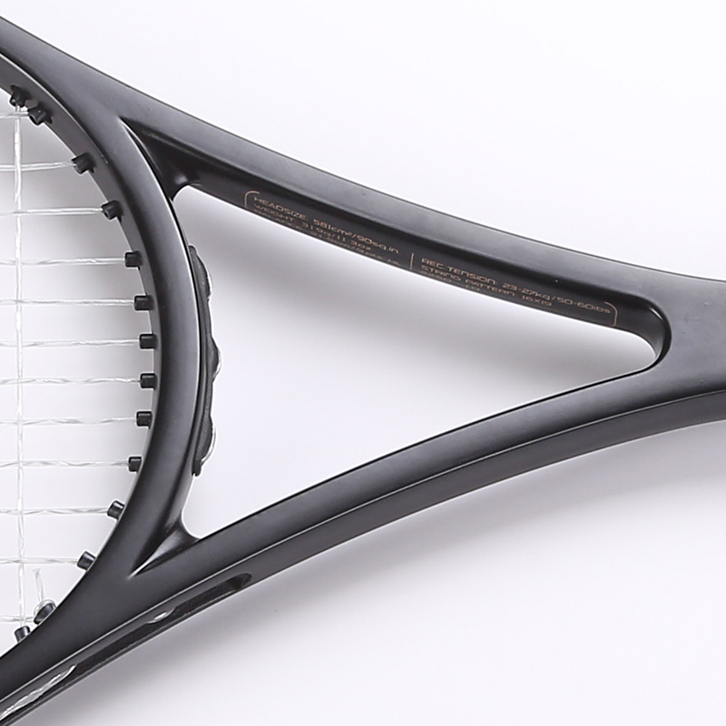 PS 90 zwarte Carbon Racket tennisracket Geschuimd handvat 4 1/4, 4 3/8, 4 1/2 met zak - 3