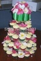Lucite Стенд 5 ярусов свадебный торт/кекс дисплей/держатель кекс