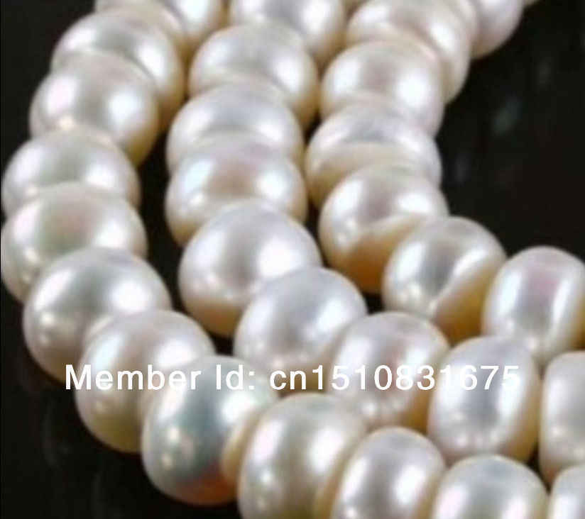 "8X10MM White Saltwater Akoya Pearl Loose Beads Accessory Parts For Necklace Bracelet 14"" Fashion Jewelry Making Design AAAxu47"
