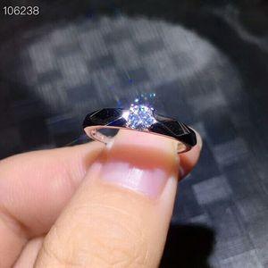 Image 2 - Meibapj 4mm brilho moissanite pedra preciosa clássico simples anel para mulher 925 prata esterlina jóias de casamento fino