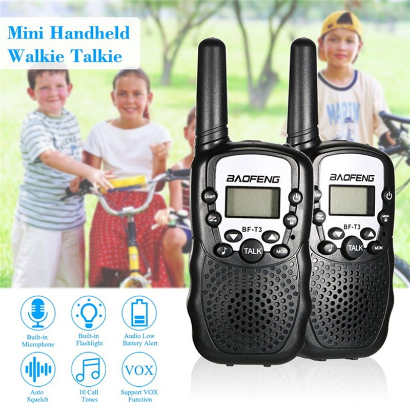 Image 3 - 2 PCS Baofeng BF T3 Mini Children Walkie Talkie Two Way Ham UHF Radio Station Transceiver Boafeng PMR 446 PMR446 Amador Handheld-in Walkie Talkie from Cellphones & Telecommunications