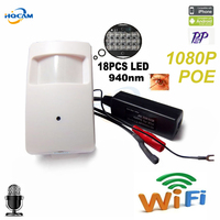 Wireless 1080P POE Night Vision 18pcs 940nm Invisible Led Onvif P2P Mini IR Wireless Ip Camera