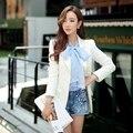 dabuwawa slim fashion casual white blazer women pink doll