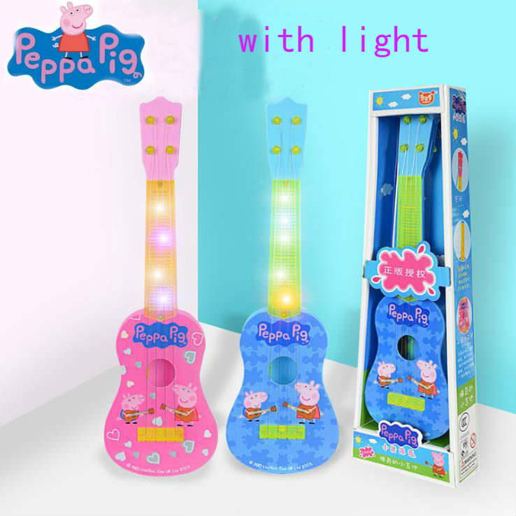 Genuine Peppa Pig 28cm/11'' Children Educational toy Guitar Musical Instruments ukulele Play type Early education children's toy