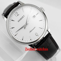 40mm Wristwatches sapphire steel miyota automatic Day mens watch q