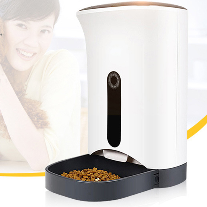 LCD display medium automatic pet feeder for cats &small to medium size dogs