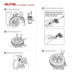 Image 5 - Autel Mx Sensor 433Mhz 315Mhz 2 In1 Mx Sensor Universele Bandenspanning Programmering Klem In Autel Tpms pad TS601 TS401 Tpms Tool