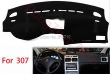 Car dashboard Evite cojín ligero Instrumento cubierta del escritorio de la plataforma Esteras Alfombras de Automóviles Para peugeot 307