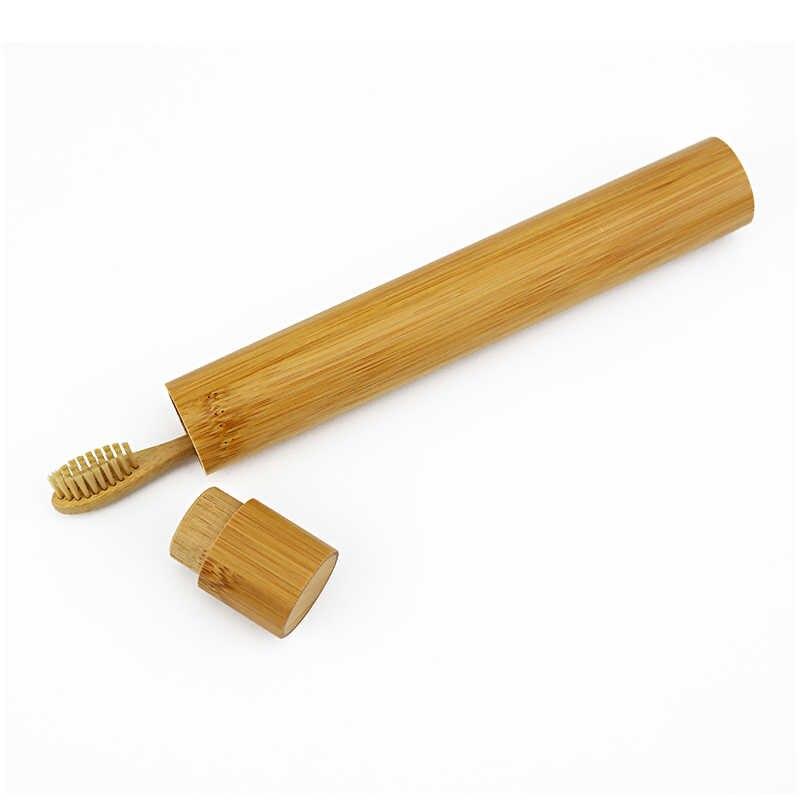1 قطعة 1133 جولة شكل الأسنان حامل الحاويات السفر مربع التخزين المحمولة اليدوية الطبيعية اسطوانة