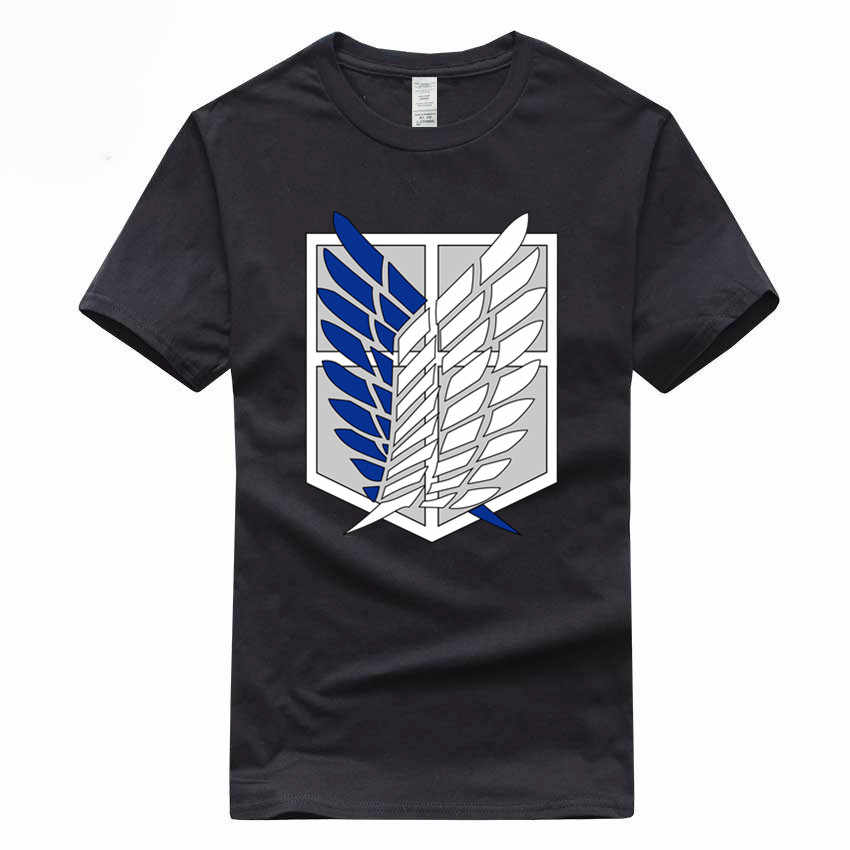 Japanese Anime Attack On Titan European Size Hip Hop T-shirt Summer Casual  100% 8bfb4d433ad