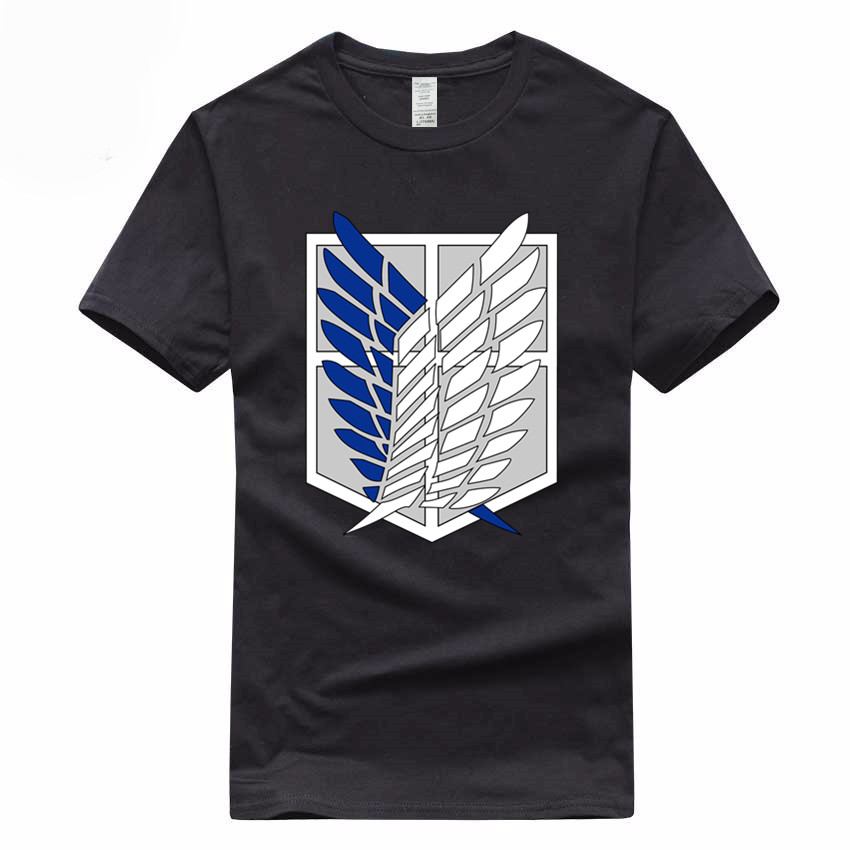 Japanese Anime Attack On Titan European Size Hip Hop T-shirt Summer Casual 100% Cotton Short Sleeve O-Neck T Shirt GMT031