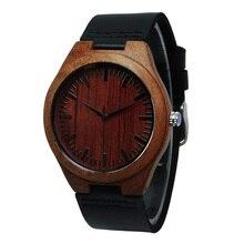 Tops Business Men's Round Quartz Red Gift Watches Wooden Luxuriou Enshrinement Watch  Bargain