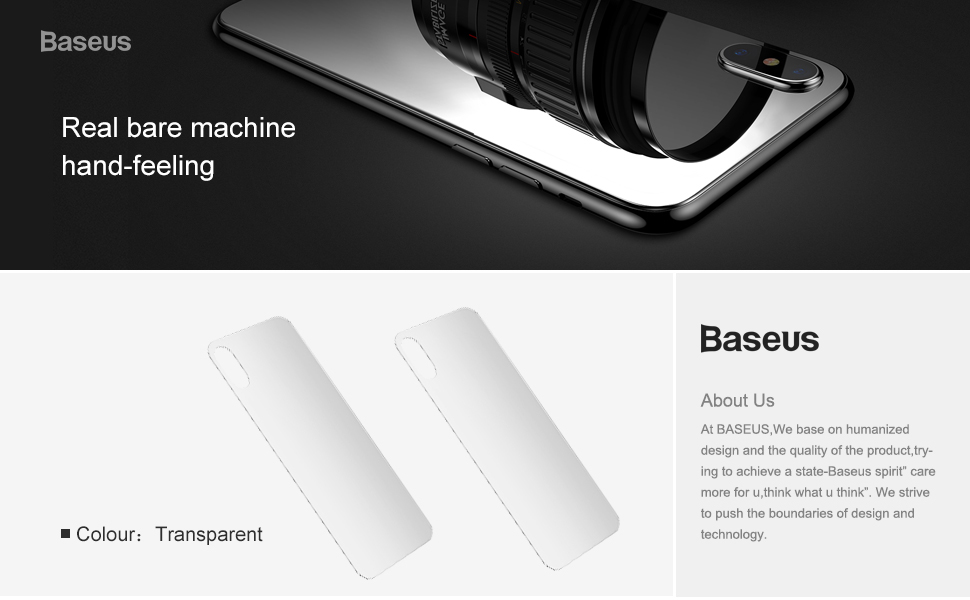 Baseus 0.3mm Transparent Back Screen Protector For iPhone Xs Max 2018 New Tempered Glass Protective Back Film For iPhone Xs Max