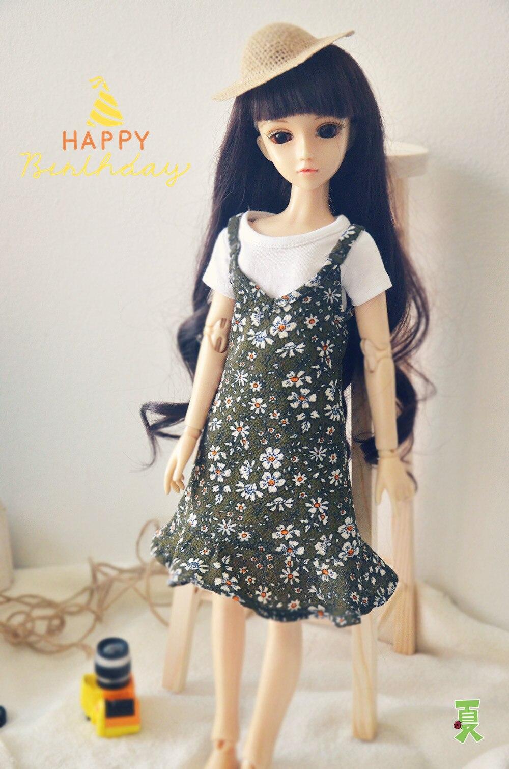 Summer Chiffon Floral Long Skirt+T shirt Set For BJD Doll 1/6 YOSD 1/4 MSD,1/3 SD16 DD Luts DOD AS DZ Doll Clothes CWB94