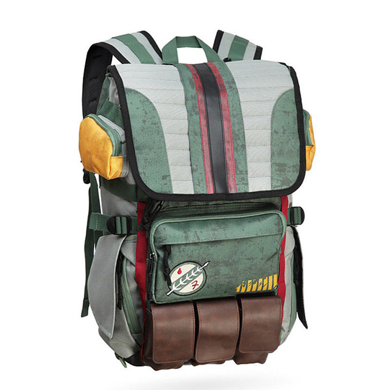 Star Wars Boba Fett Armor Backpack Laptop School Travel Outdoor Shoulder Bag