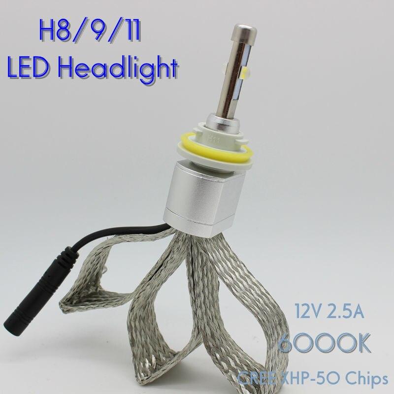 ФОТО Osen Super Bright 40w H8 H9 H11 Xenon White 6000K Car LED Headlight Conversion Lamp Kit 4800lm Bulb