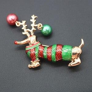 Женская брошь CINDY XIANG в виде собаки с эмалью, доступно в 2 цветах, модное украшение на Рождество в виде животного, украшение для детей, хороший ...