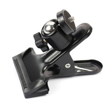 F14414 360 Degree Rotating Ball Head Clamp Clip Holder w/ 1/4 Tripod Mount for Gopro Camera Hero 4 3 3+ 2 Flash Camcorder +FS hobbyinrc for gopro hero 5 4 3 action sports camera 360 degree mount bracket holder tripod support 1 4 base for dji mavic pro